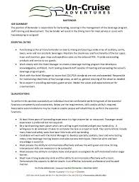 Example Of Resume Skills And Qualifications by Examples Of Bartender Resumes Sample Bartender Resume Sample