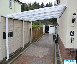 they have used a white lean to canopy to create a covered walkway