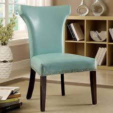 light teal accent chair benston retro contemporary style light teal leatherette finish