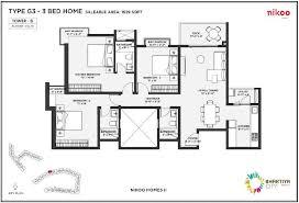 2 d as built floor plans floor plans of bhartiya city nikoo homes designed by nikoo homes 2