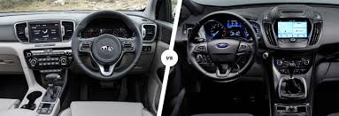 kia sportage vs ford kuga suv comparison carwow