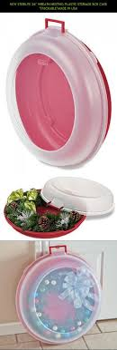 wreath storage boxes plastic