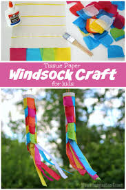 tissue paper windsock craft where imagination grows