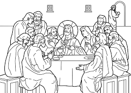 the last supper coloring page inside coloring page itgod me