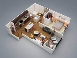 Flat Home Design by 3 Bedroom Flat House Plan Fujizaki