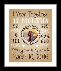 what to get husband for 1 year anniversary 1 year anniversary gifts for him 1 year together on burlap 1st
