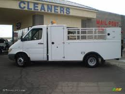 2004 arctic white dodge sprinter van 3500 chassis utility truck