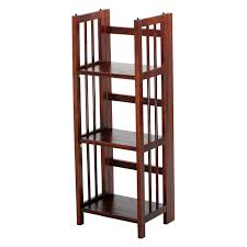 Narrow Bookcase Espresso by Good Stackable Folding Bookcase 62 For Your Narrow Mahogany