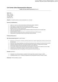 Sample Objectives In Resume For Call Center Agent Call Center Agent Cover Letter