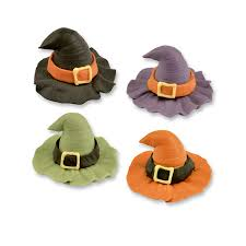 halloween cupcake toppers fondant pumpkin ghost u0026 witches hat