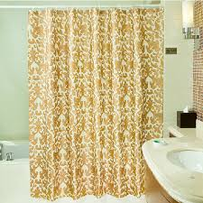 gold color modern shower curtain made of polyester buy gold