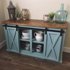 Sliding Door Kitchen Cabinet Close Up Of The Gray Sliding Barn Door Console Table For Sale See