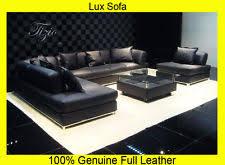 Large Black Leather Corner Sofa Italian Corner Sofa Ebay