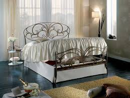 double bed traditional wrought iron with in base storage