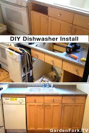 install a dishwasher in an existing kitchen cabinet home