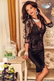 atmosphere rochii rochie de seara neagra catifea si dantela shopping in stilul meu