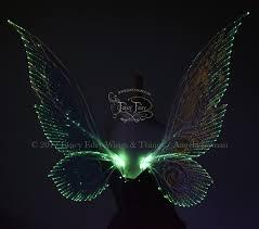 light up fairy wings trinket 26 inch iridescent green light up fairy wings in clear with