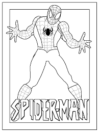 spider man coloring sheets kids print color free