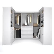 versatile by bestar 108 inch corner closet storage kit free