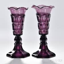 Amethyst Glass Vase Search All Lots Skinner Auctioneers