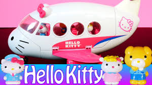 cartoon kitty airlines playset airplane toys review