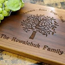 cutting board engraved family tree personalized engraved cutting board