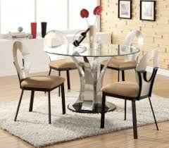 Glass Top Dining Table Round Foter - Glass for kitchen table