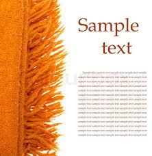 orange plaid wool over white with sample text stock photo