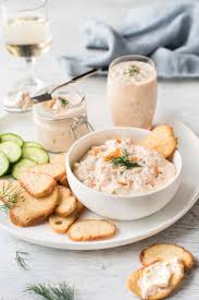 easy posh smoked salmon pots or dip recipetin eats
