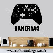 xbox one design xbox one controller wall sticker with your gamer tag