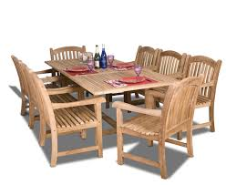 Teak Patio Dining Table Amazonia Teak Newcastle 9 Teak Rectangular