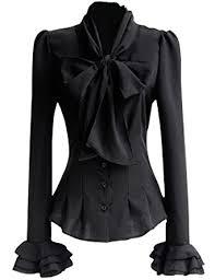 womens black blouse mosocow s vintage bow tie neck shirt blouse tops m black at