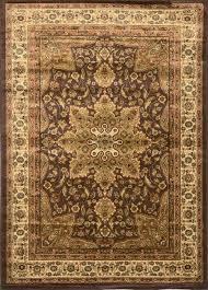Large Orange Rug Large Medallion 8 X 11 Persian Area Rug Border Carpet Actual 7 U0026