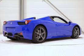 Ferrari 458 Blue - unique bugatti blue ferrari 458 spider hits the market gtspirit