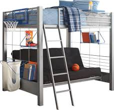 build a bunk gray 4 pc full futon loft bed bunk loft beds metal