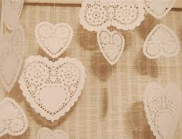 heart shaped doilies heart shaped doily party decorations ad astra per aspera