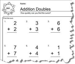 doubles addition facts worksheets worksheets for elementary math doubles addition doubles