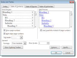 Create Table Of Contents In Word 2013 Toc Arithmetic