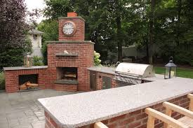 Backyard Brick Pizza Oven Outdoor Fireplace Designs With Pizza Oven Spectacular Kitchen