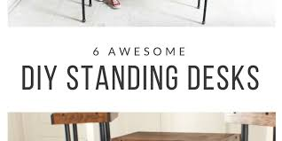 Standing Desk Diy by Contemporary Standing Desk Diy All Day Every In Decor