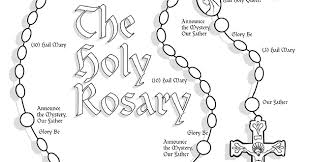 children s rosary rosary coloring pages funycoloring