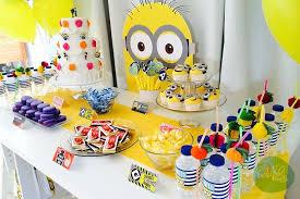 minions birthday party minion themed birthday party such ideas via kara tierra