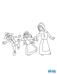 pilgrim boys and girls coloring pages hellokids com