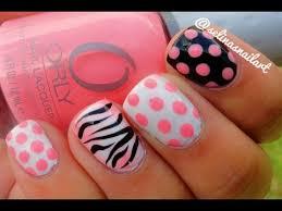 polka dot u0026 zebra print nail art tutorial youtube