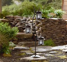 Landscaping Solar Lights by Garden Oasis 3 Solar Lanterns With Stand Shop Your Way Online
