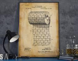 Wall Art For Powder Room - toilet art etsy