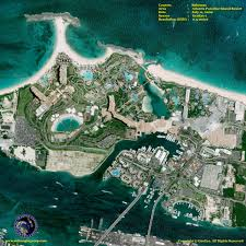 satellite image of atlantis paradise island resort satellite