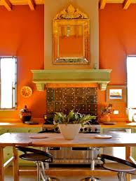 shades of orange colour kitchen colors best orange kitchen wall and mirror with wooden