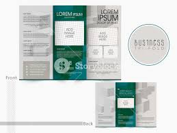 front and back page presentation of trifold brochure template or