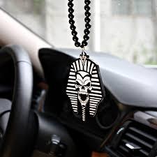 black pharaoh skull badge car fashion pendant car styling